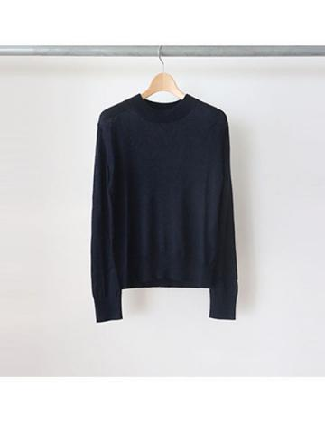 14D tenjiku high neck knit L/S (NVY)