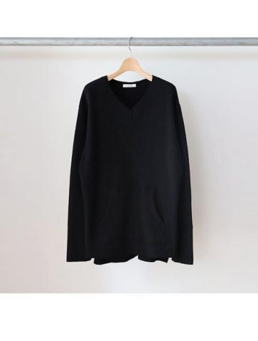 Big waffle side gather L/S -BOYS- (BLK)