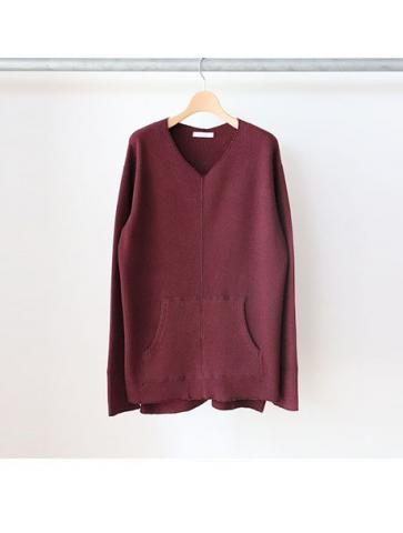 Big waffle side gather L/S -BOYS- (BUR)