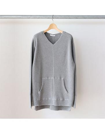 Big waffle side gather L/S -BOYS- (GRY)