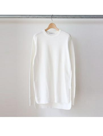 20/- honeycomb crewneck L/S -BOYS- (WHT)