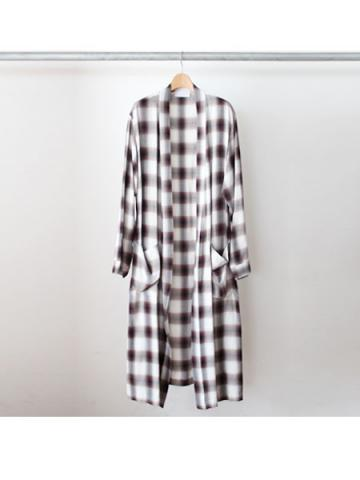 Rayon ombre check robe -BOYS- for fab4 (BRN)