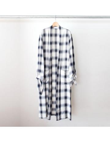 Rayon ombre check robe (NVY)
