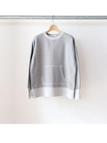 crew neck sweat (GRY)