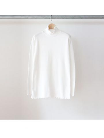 20/- honeycomb frill turtleneck L/S