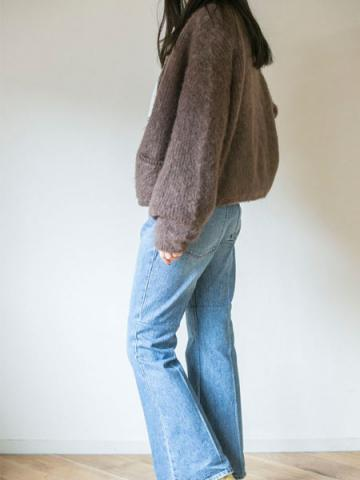 mohair zip-up knit cardiganサブイメージ2