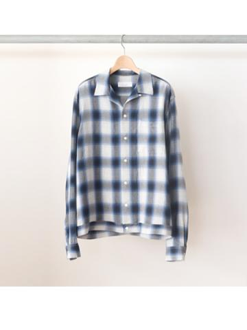 Rayon ombre check box-shirt -BOYS- (BLU)