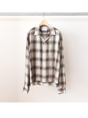 Rayon ombre check box-shirt -BOYS- (BRN)