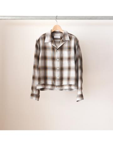 Rayon ombre check box-shirt (BRN)
