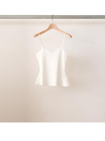 20/- honeycomb frill camisole (WHT)