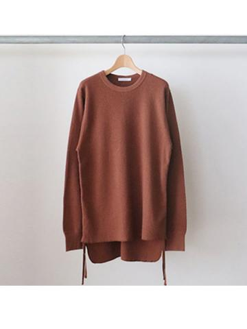 20/- honeycomb side gathered L/S -BOYS- (BRN)