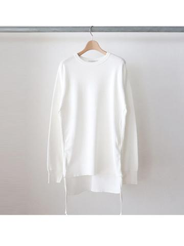 20/- honeycomb side gathered L/S -BOYS- (WHT)