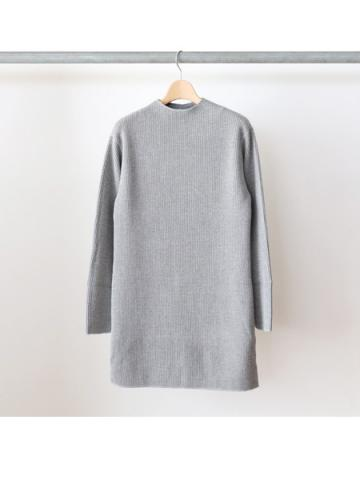 Big waffle high neck L/S (GRY)
