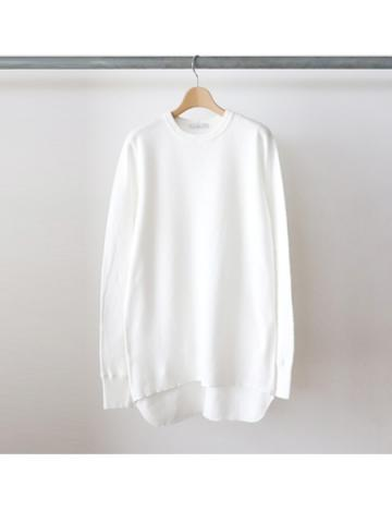 20/- honeycomb crew neck L/S - BOYS- (WHT)