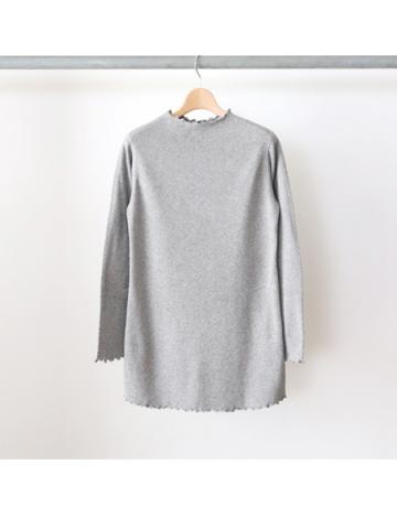 20/- honeycomb frill neck L/S (GRY)