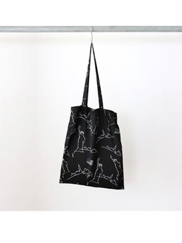 NYC printed A3 tote bag (BLK)