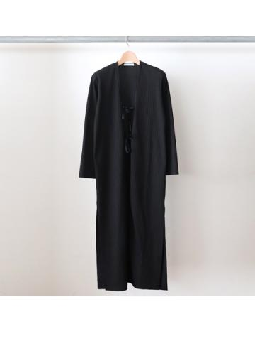 Pe/c wide rib robe (BLK)