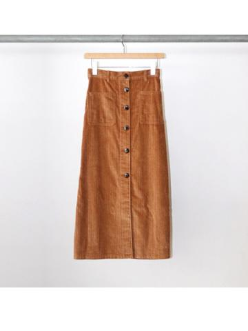 Corduroy button-down skirt (CML)