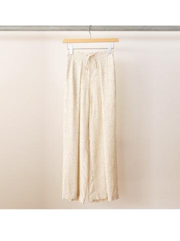 Rayon dot gathered pants (IVY)