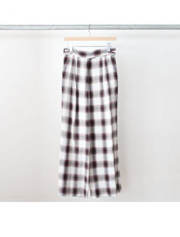 Rayon ombre check wrap slacks (BRN)