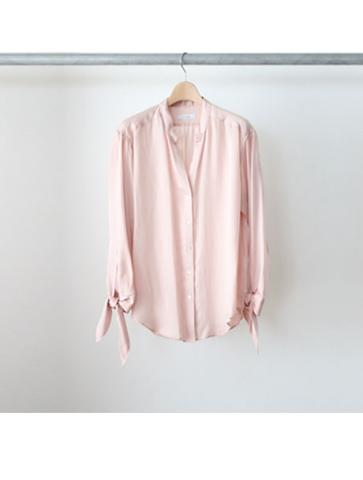 Tencel satin ribbon shirt (PNK)