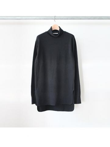 honeycomb turtleneck L/S -BOYS- (BLK)