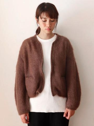 mohair zip-up knit cardiganサブイメージ3