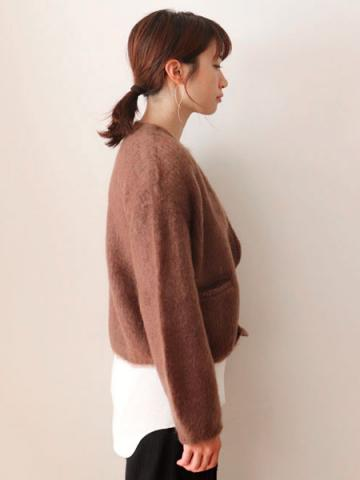 mohair zip-up knit cardiganサブイメージ4