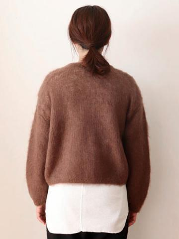 mohair zip-up knit cardiganサブイメージ5