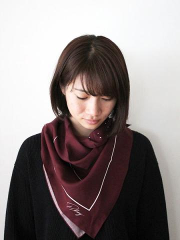 Rayon heart printed scarfサブイメージ1