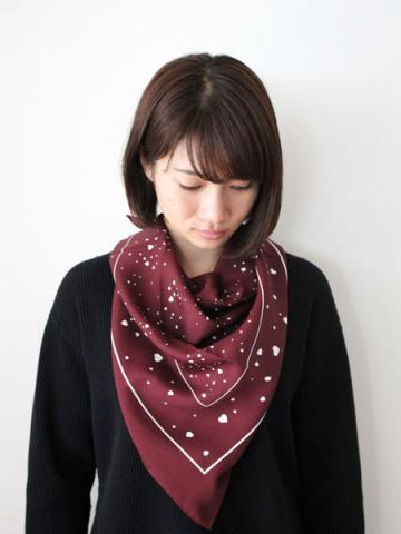 Rayon heart printed scarfサブイメージ2