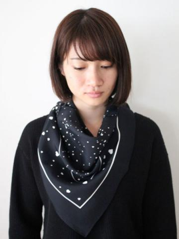 Rayon heart printed scarfサブイメージ4