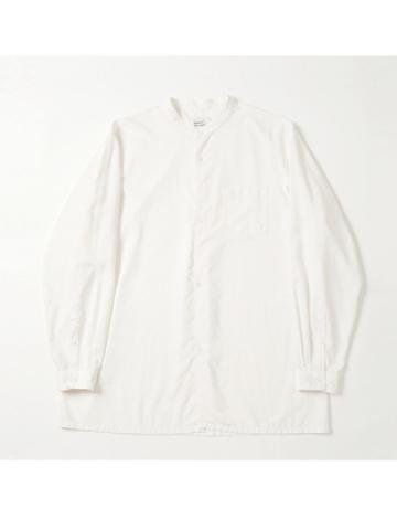 round body band collar shirt (OFF)