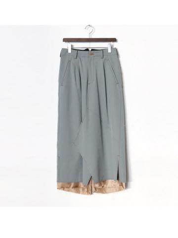 layered skirt PT (GRY)