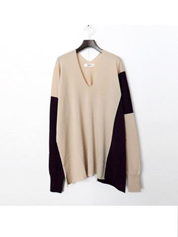 asymmetry knit (BEG)