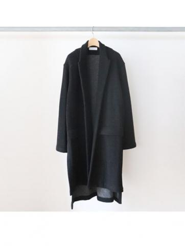 w-face knit gown coat (BLK)
