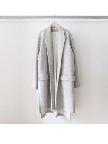 w-face knit gown coat (GRY)