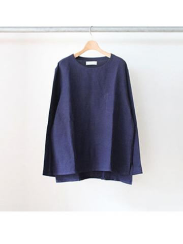Linen L/S tee (NVY)