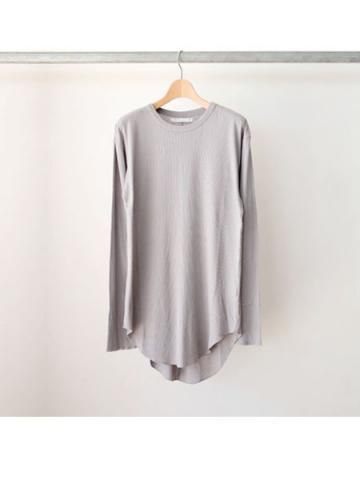 long rib stitch long tee (GRY)