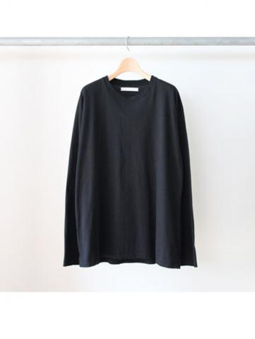 over drop long tee (BLK)