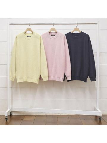 silk crew neck knit