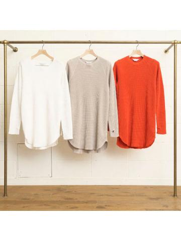 Long Sleeve Waffle Long T-shirt