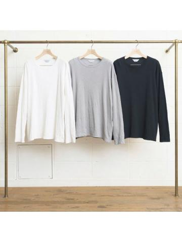 cotton and cashmere long-sleeve honeycomb T-shirt
