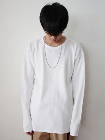 cotton and cashmere long-sleeve honeycomb T-shirtサブイメージ2