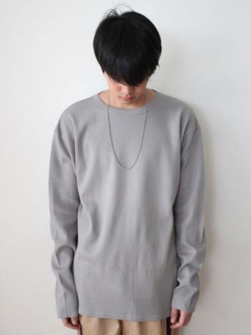 cotton and cashmere long-sleeve honeycomb T-shirtサブイメージ3