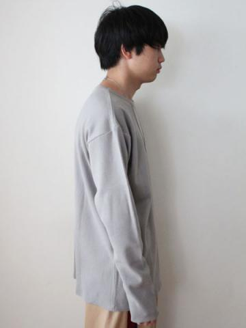 cotton and cashmere long-sleeve honeycomb T-shirtサブイメージ4