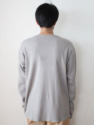 cotton and cashmere long-sleeve honeycomb T-shirtサブイメージ5