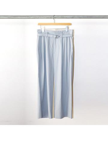 Cotton gabardine 2 tuck pants (BLU)