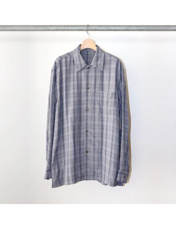 Open collar L/S shirts (NVY)