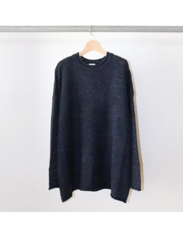 WOOL ACRYL NYLON / CREW NECK OVER L/S KNIT (NVY)